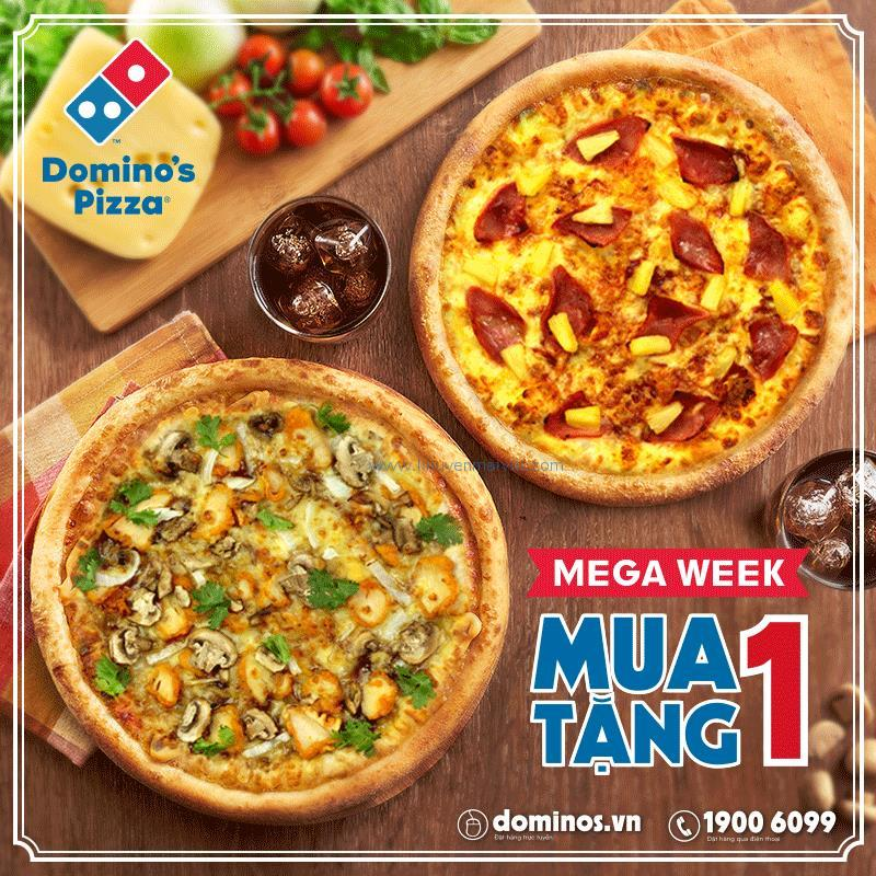 dominos-pizza-khuyen-mai-mega-week-mua-1-tang-1-pizza